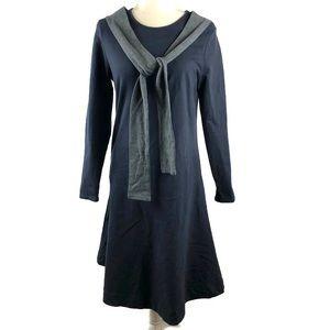 The Lines In Between Sleeve Tie Drop Waist Dress